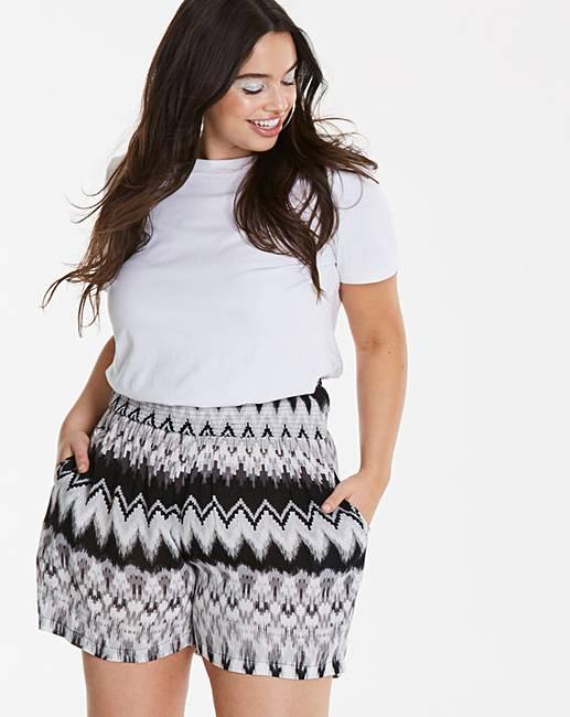 Simply Be Printed Shorts