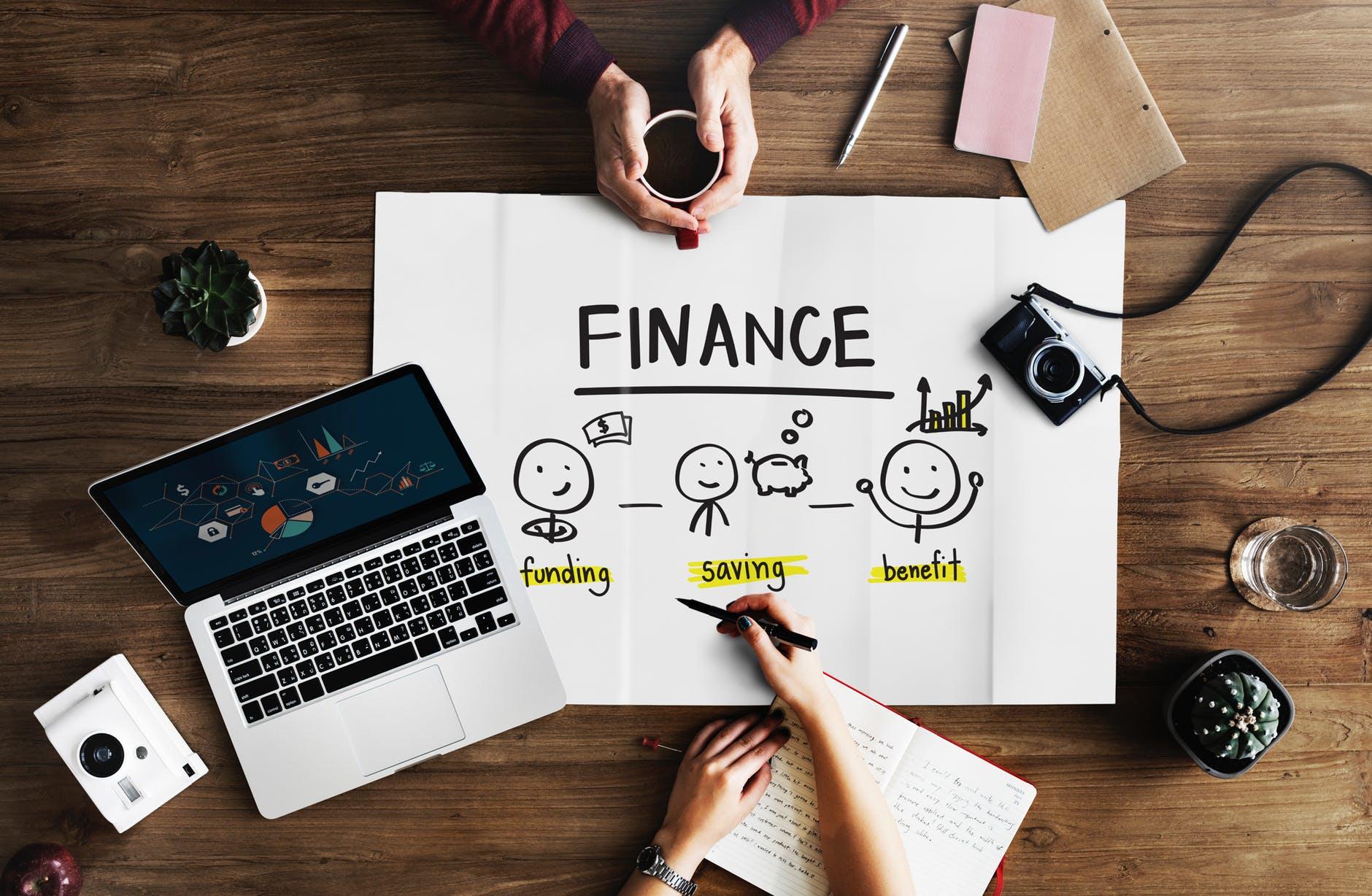 Couple focusing on financial goals