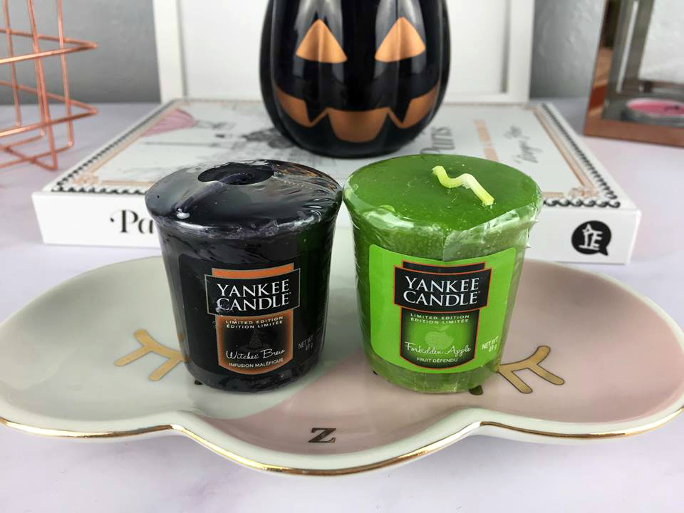 Yankee Candle Samplers in Witches Brew and Forbidden Apple