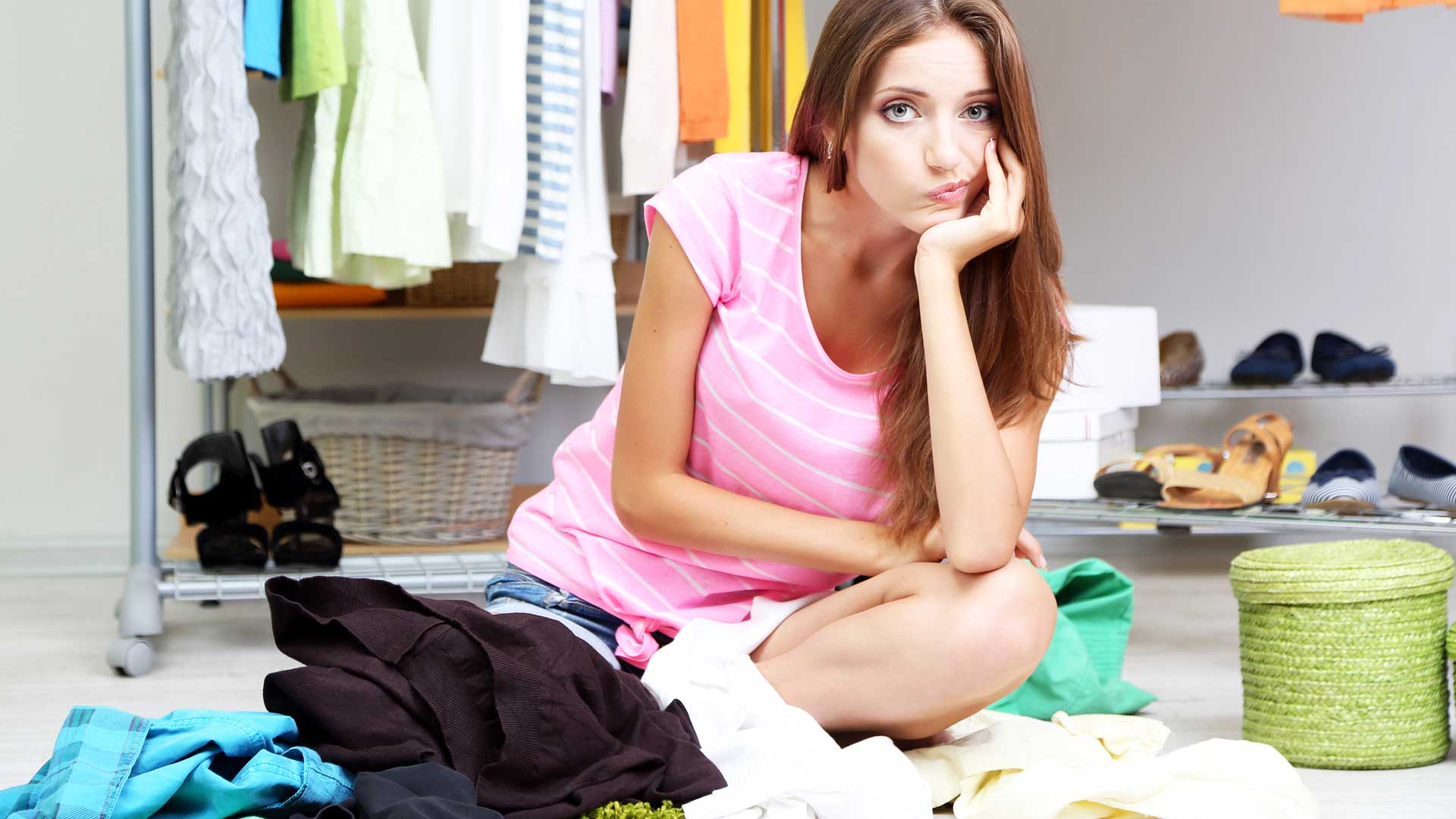 Woman Anticipating a Spring Clean