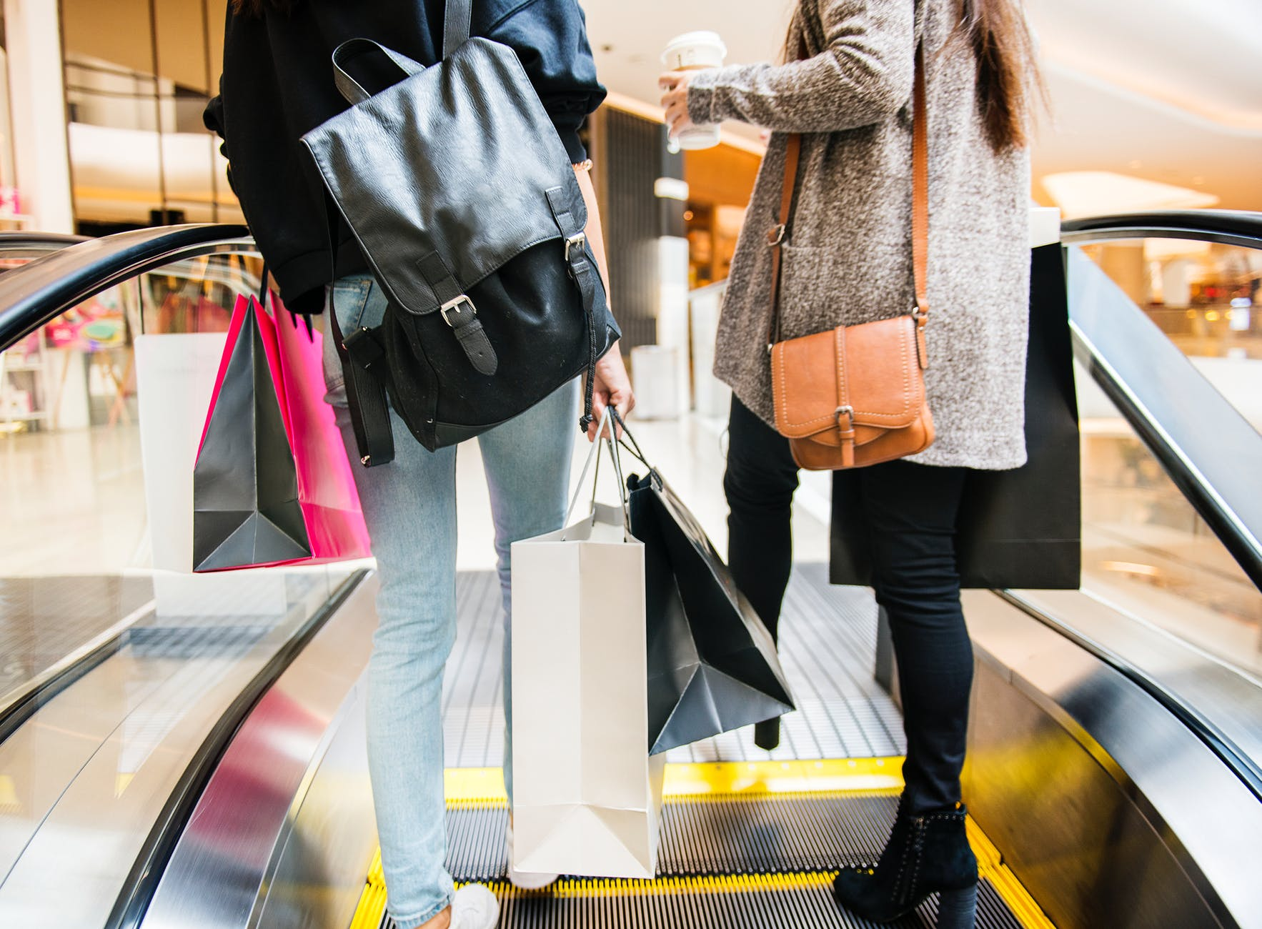 Two Women Shopping in Cardiff