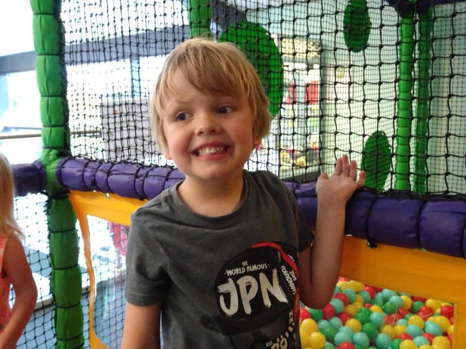 Oscar in Clip 'n Climb's play area